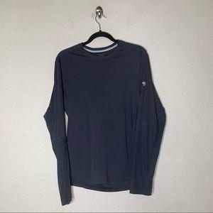 Mountain Hardwear Black Long Sleeve Base Layer Top